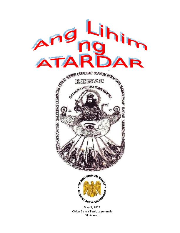 DOC) ANG LIHIM NG ATARDAR SABAOTH doc | ace valderrama