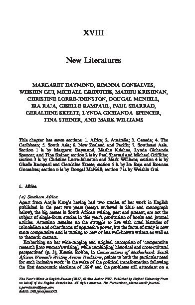 Pdf Xviii New Literatures Phillip Edmonds Academia Edu