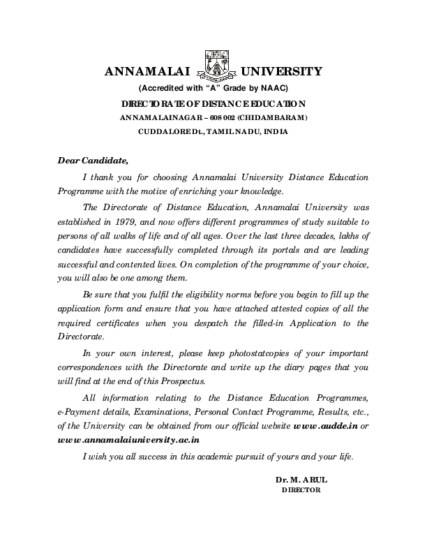 PDF) ANNAMALAI UNIVERSITY DIRECTORATE OF DISTANCE EDUCATION