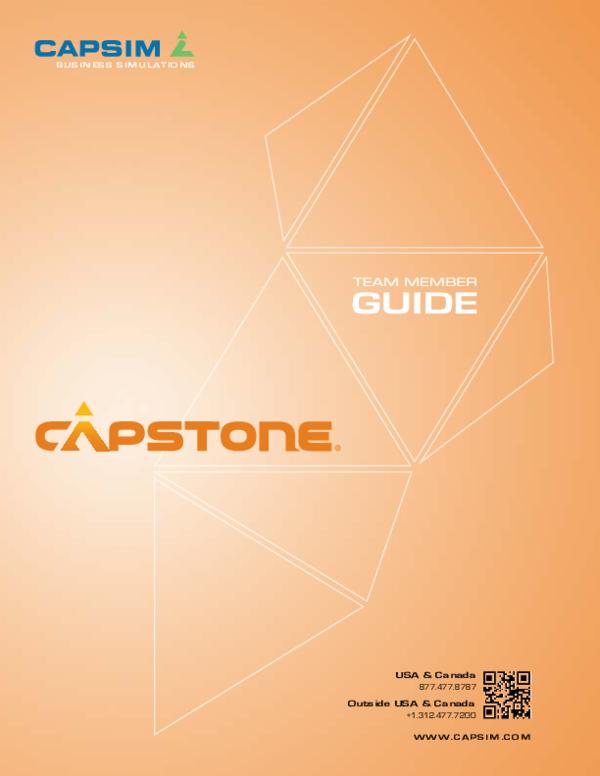 PDF) Capstone Team Member Guide | Ankur Vinodchandra Desai