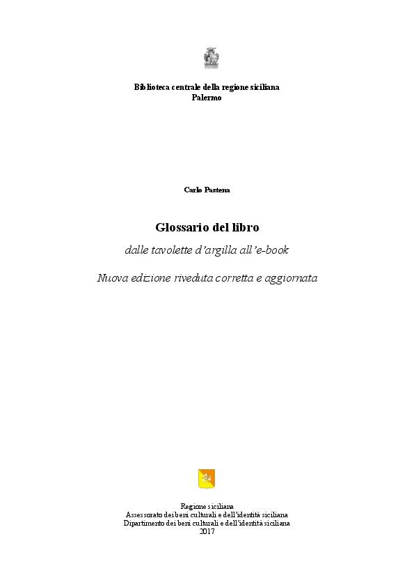 Glossario Del Libro Carlo Pastena Academiaedu