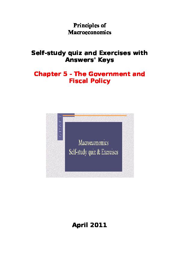 DOC) Principles of Macroeconomics Self-study quiz and