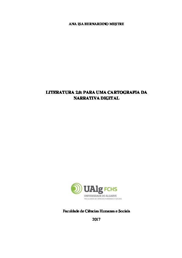 7f4710a42 PDF) LITERATURA 2.0  PARA UMA CARTOGRAFIA DA NARRATIVA DIGITAL
