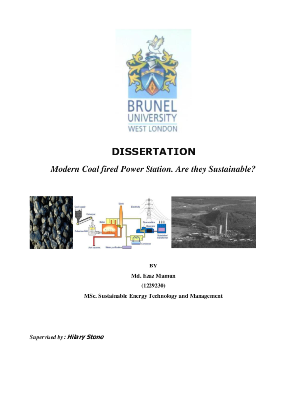 PDF) Modern Coal fired Power Station  Are they Sustainable? | Engr