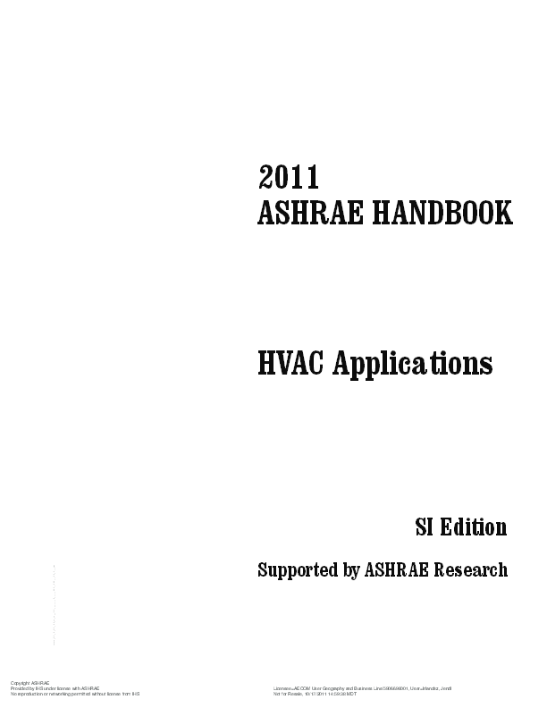 PDF 2011 ASHRAE HANDBOOK HVAC Applications SI Edition
