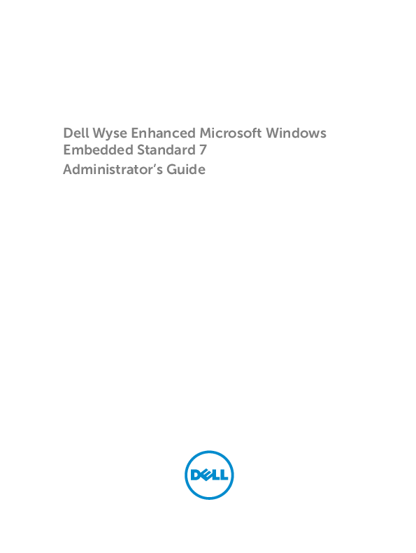 PDF) Dell Wyse Enhanced Microsoft Windows Embedded Standard