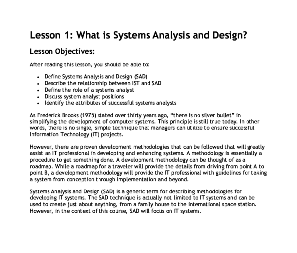 Doc Lesson 1 What Is Systems Analysis And Design Sherry Mae Edades Academia Edu