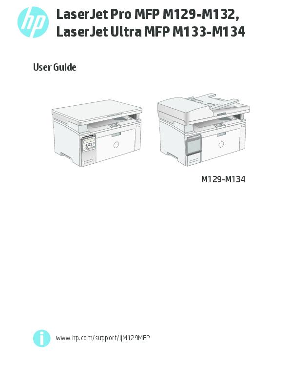 PDF) User Guide LaserJet Pro MFP M129-M132, LaserJet Ultra