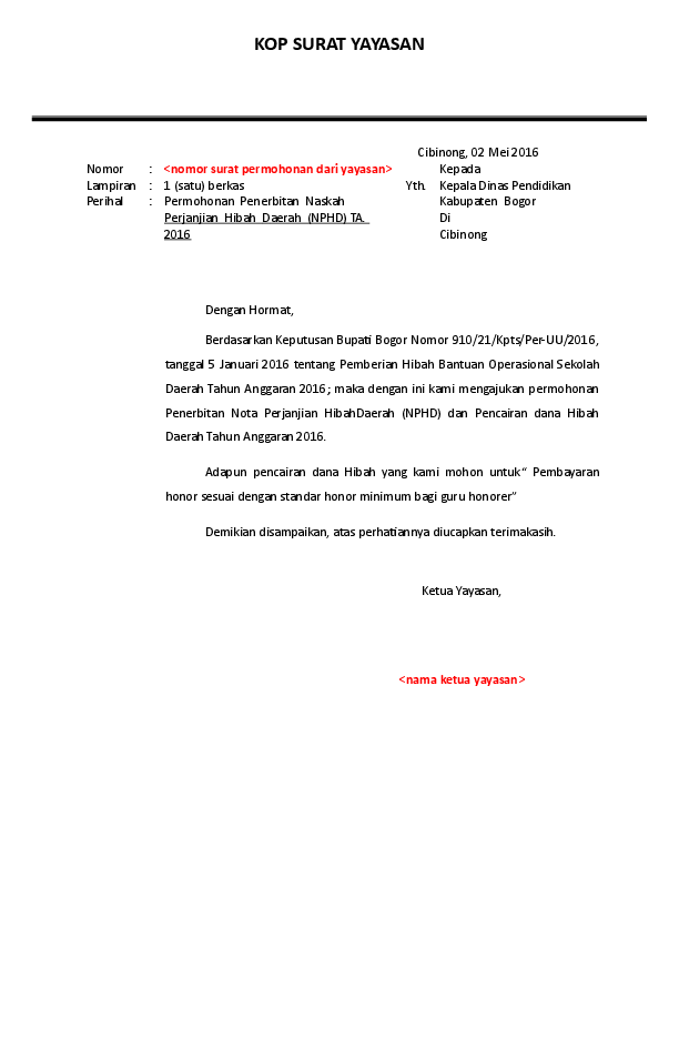 Doc Kop Surat Yayasan Khoirul Yazid Academiaedu