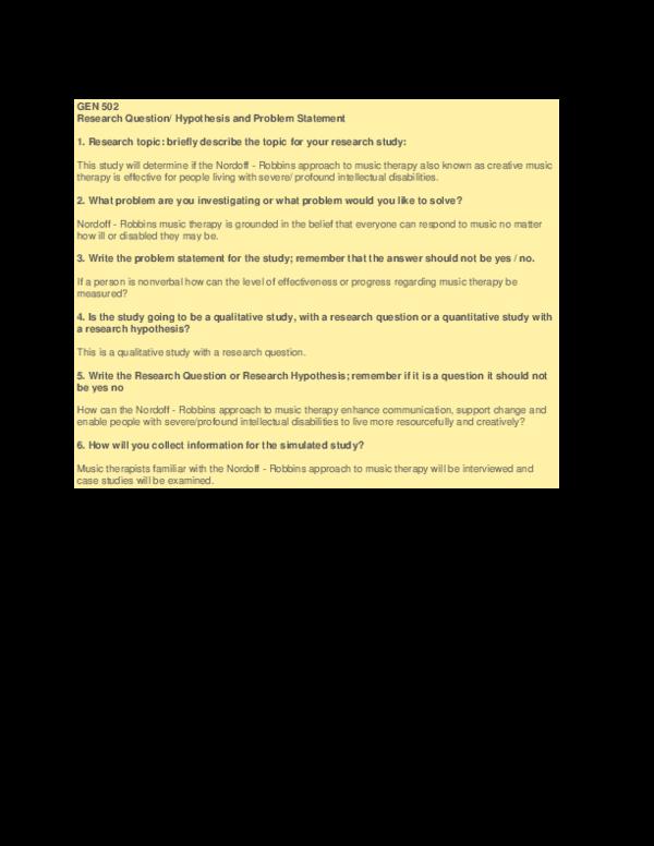 PDF) GEN 502 Research Question | Jodi Albright - Academia edu