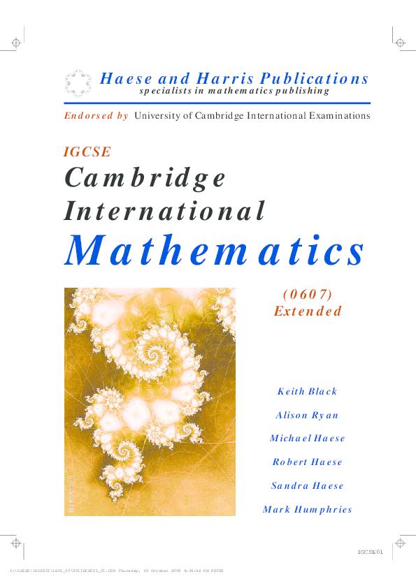 PDF) Igcse math extended | jiye yoon - Academia edu