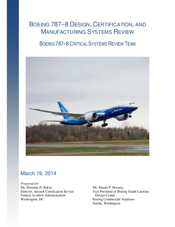 PDF) BOEING 787–8 DESIGN, CERTIFICATION, AND MANUFACTURING