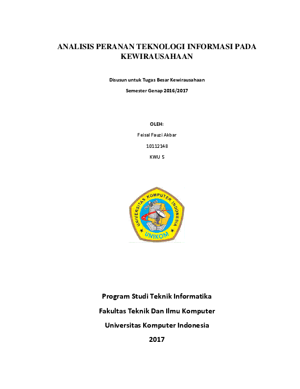 Contoh Karya Ilmiah Wirausaha Ilmusosial Id