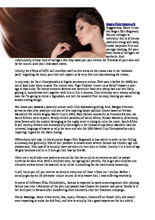 PDF) Regen Hair Regrowth 1   Edgarlevan Edgarlevan