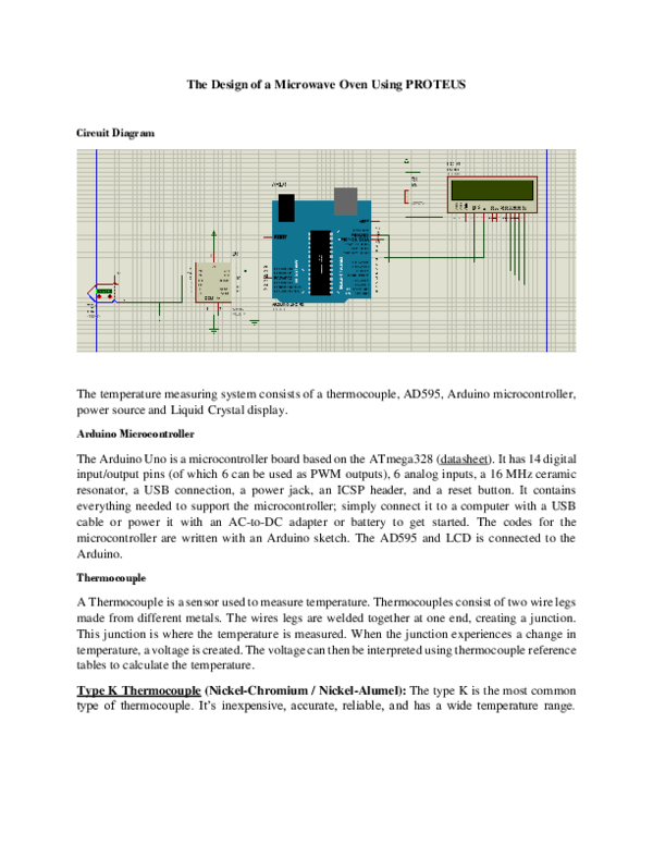 DOC) The Design of a Microwave Oven Using PROTEUS   Ogadi