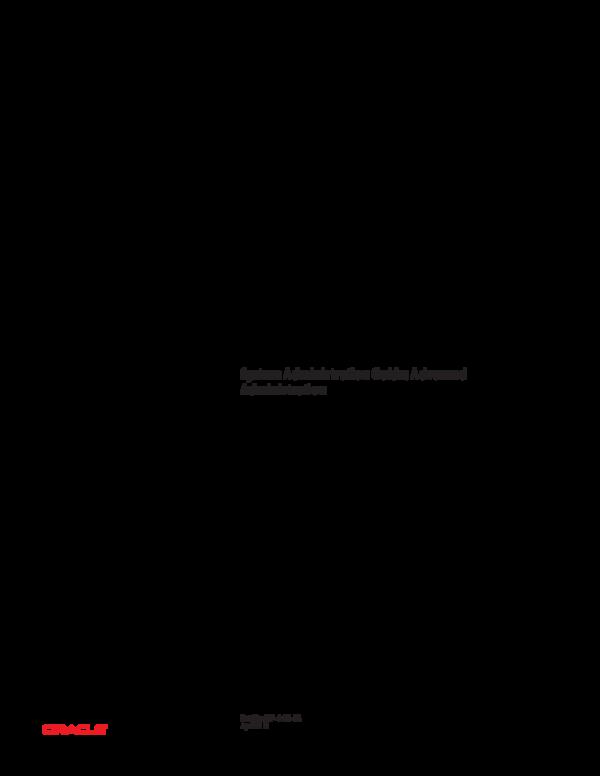 PDF) System Administration Guide, solaris advanec | seo log