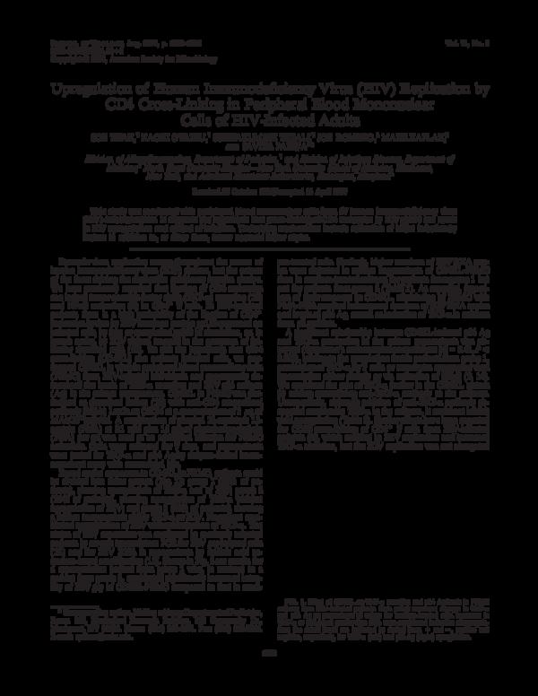 PDF) Upregulation of human immunodeficiency virus (HIV