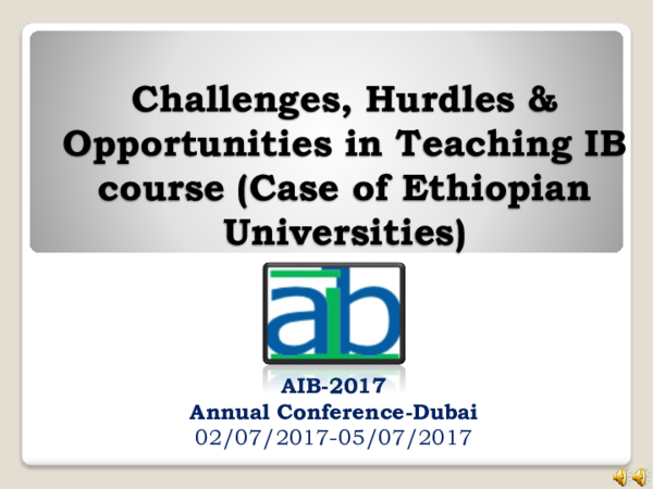 PDF) Challenges, Hurdles & Opportunities in Teaching IB course (Case