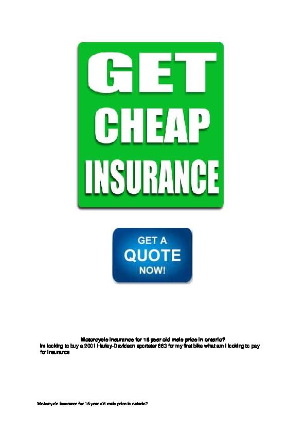 Pdf Motorcycle Insurance For 16 Year Old Male Price In Ontario Saara Menger Academia Edu