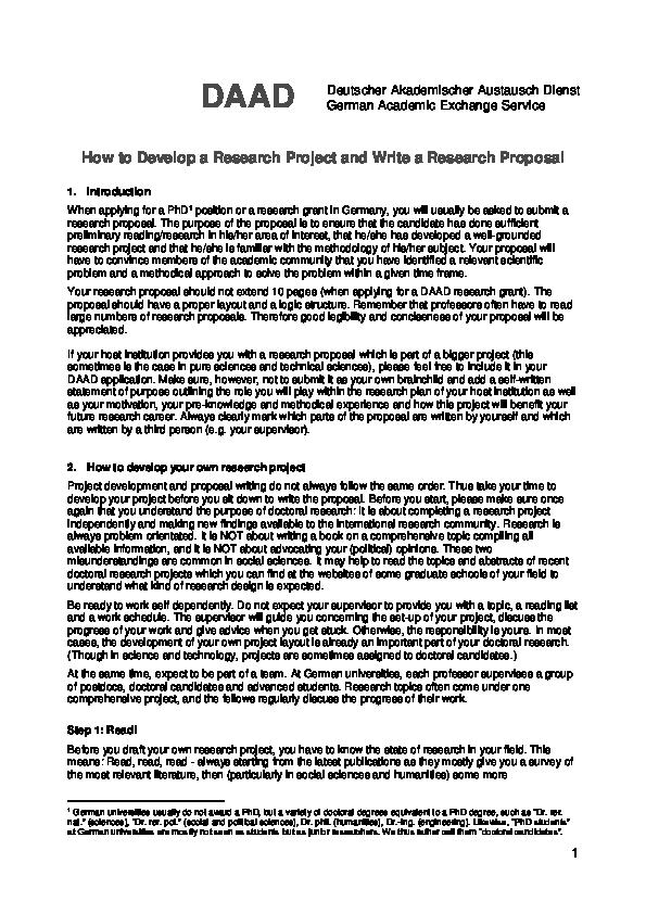PDF) DAAD Deutscher Akademischer Austausch Dienst How to