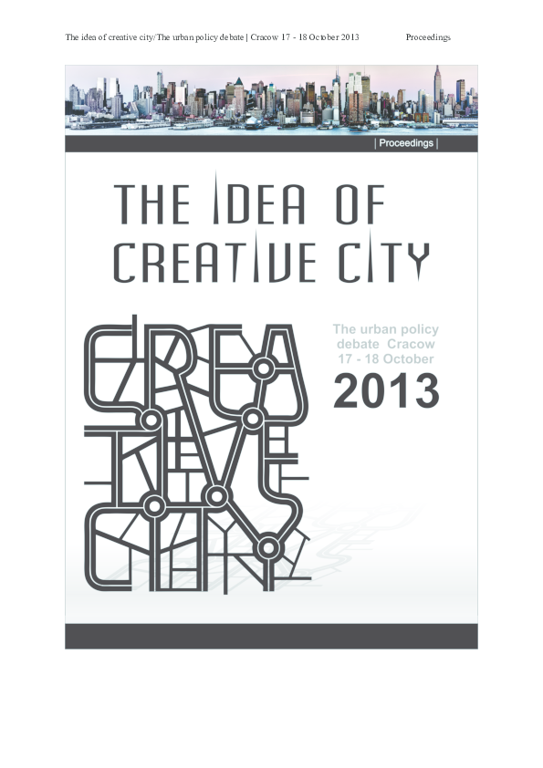 3e8353df0 The Idea of Creative City