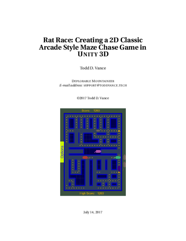 PDF) Rat Race: Creating a 2D Classic Arcade Style Maze Chase Game in