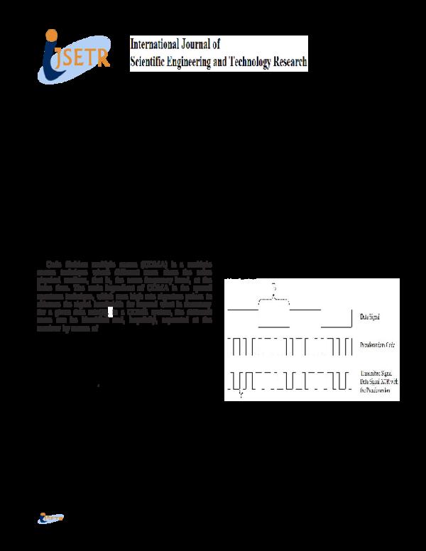 PDF) Design and Implementation of DS-CDMA Modem Using BPSK