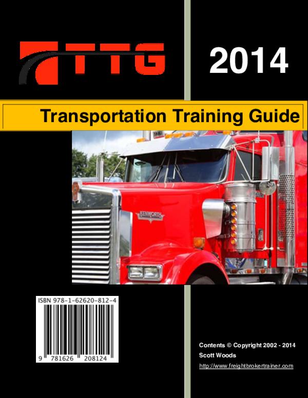 PDF) Transportation Training Guide | John Haar - Academia edu