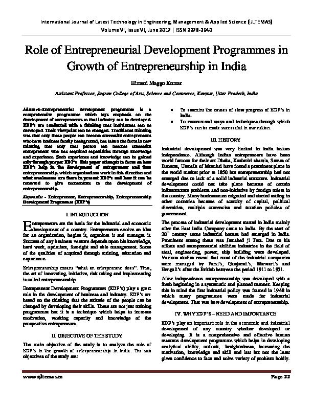 Entrepreneurship Development Pdf By Ss Khanka