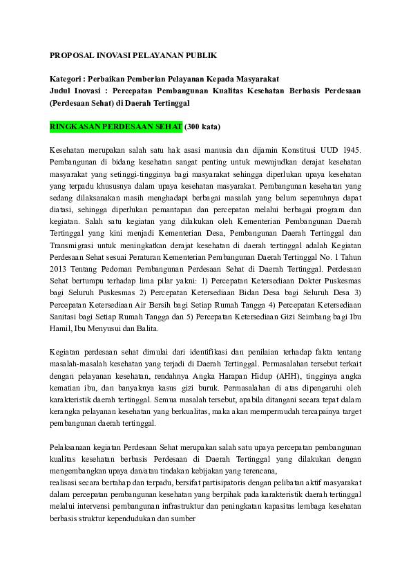 Pdf Proposal Inovasi Pelayanan Publik Aldiano Windy Academia Edu