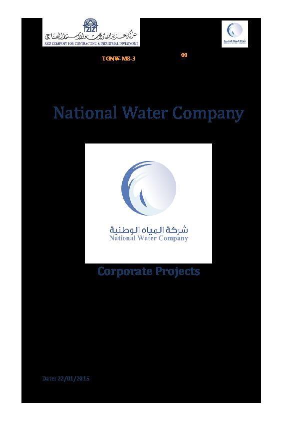 DOC) Reinforcing the Riyadh City Potable Water, Strategic Storage