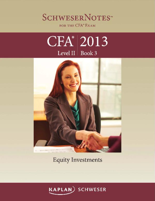 PDF) 2013 CFA Level 2 - Book 3 pdf   Raheel Ahmad - Academia edu