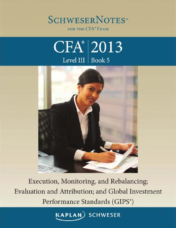 PDF) 2013 CFA Level 3 - Book 5.pdf | Raheel Ahmad - Academia.edu