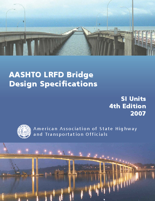 PDF) AASHTO LRFD Bridge Design Specifications SI Units 4th
