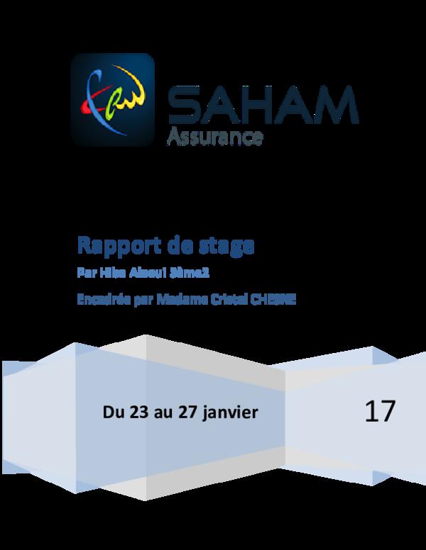 ASSURANCE TÉLÉCHARGER RAPPORT DE STAGE SAHAM