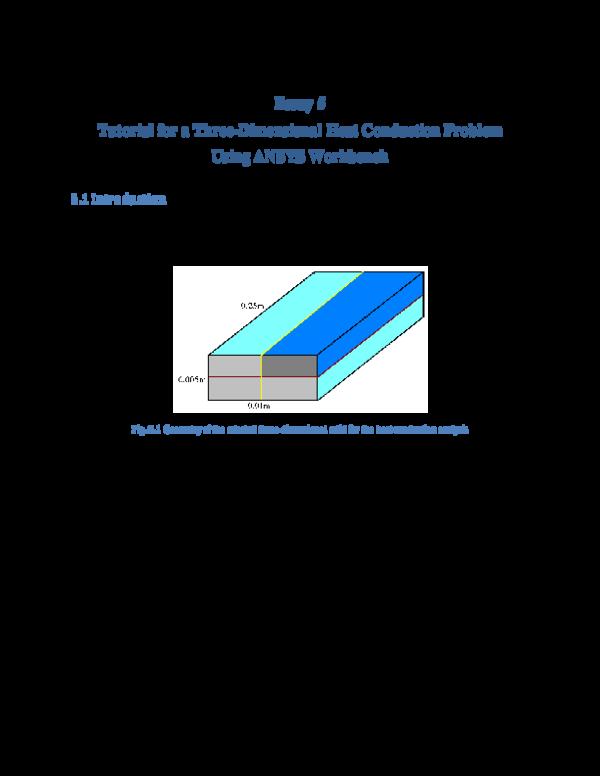 PDF) Essay 5 Tutorial for a Three-Dimensional Heat