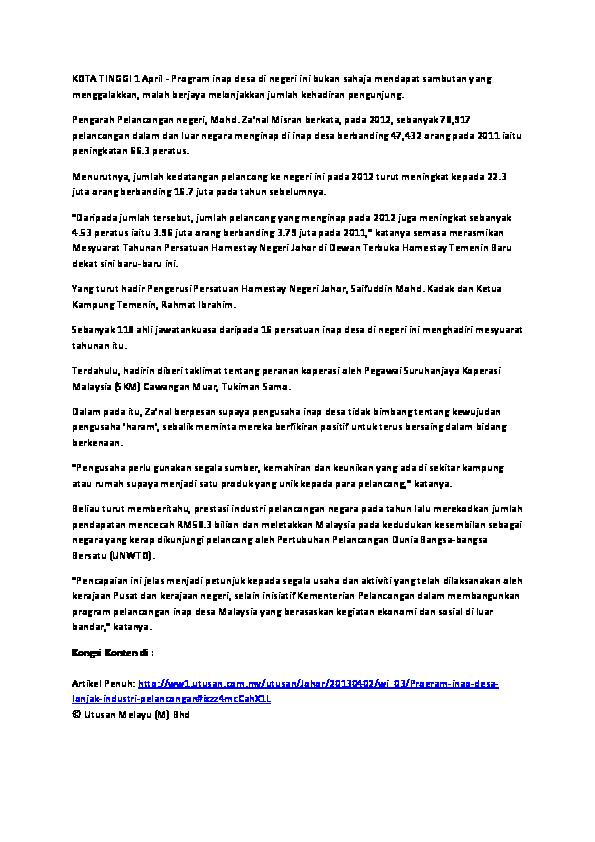 Doc Kebaikan Inap Desa Maritha Gentha Academia Edu