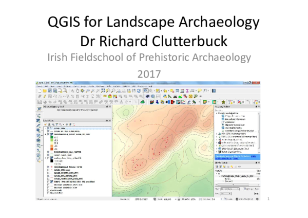 PDF) QGIS for Landscape Archaeology: Course for the Irish