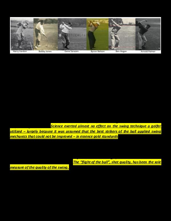 PDF) The Modern Golf Swing: is it STUPID? | Ben Allen Jr