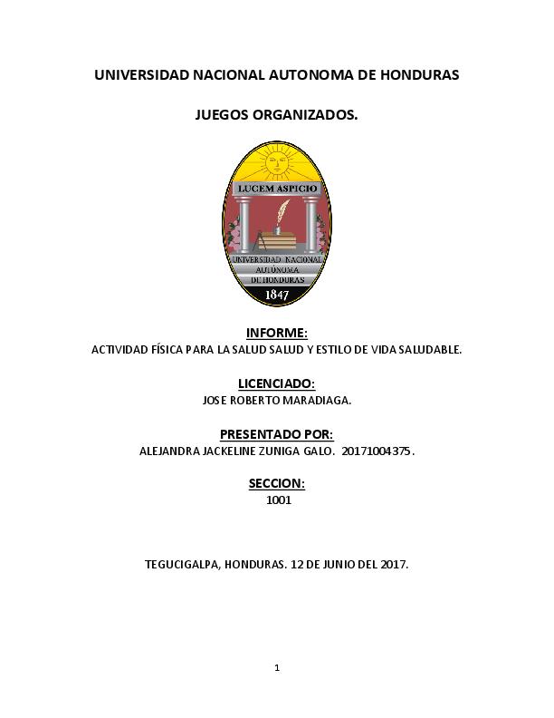 Doc Informe Juegos Organizados Alejandra Galo Academia Edu
