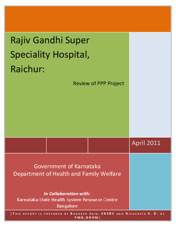 PDF) Rajiv Gandhi super-speciality hospital - Review of PPP