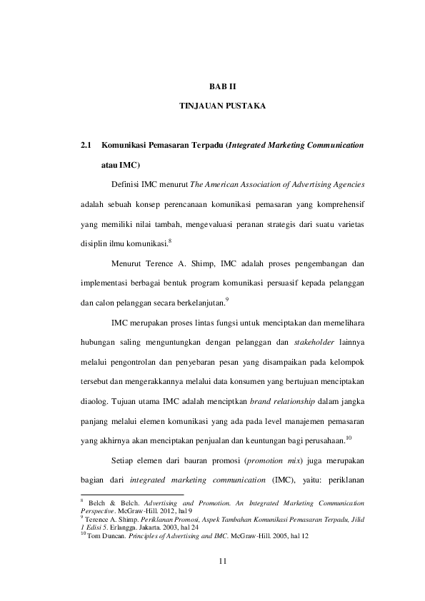 Pdf Tinjauan Pustaka 2 1 Komunikasi Pemasaran Terpadu Integrated Marketing Communication Atau Imc Andre Iskandar Academia Edu