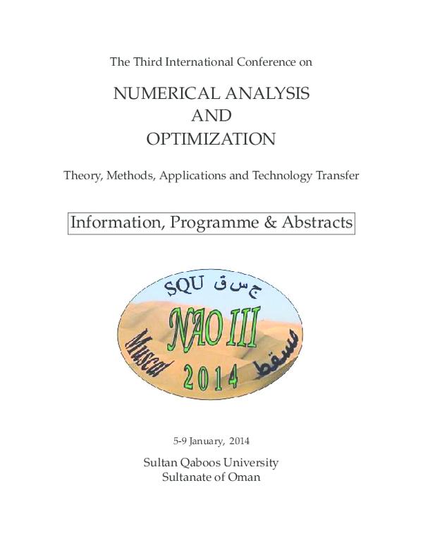 PDF) Third international conference on numerical analysis