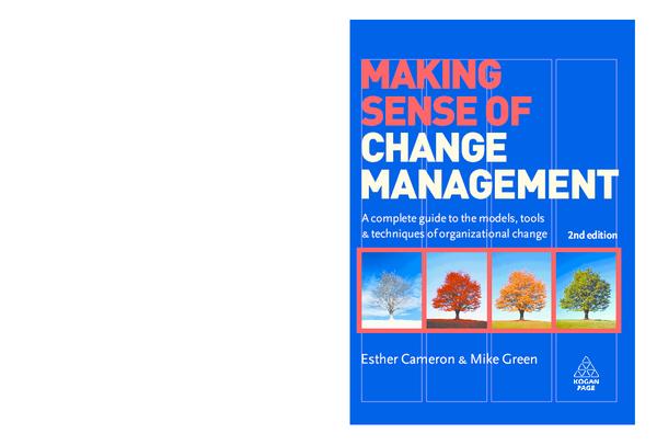 Making sense of change management (summary) pdf free. download full