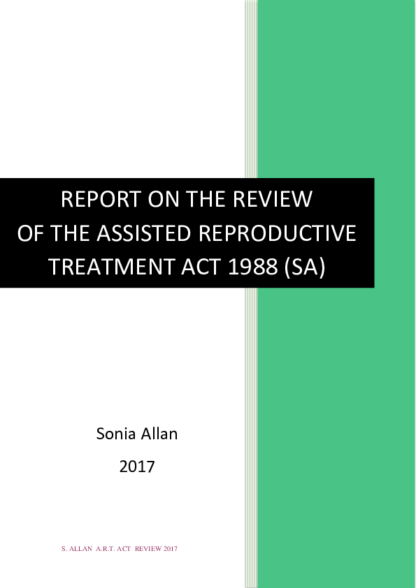 PDF) Report on the review of the Assisted Reproductive