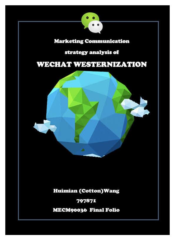 PDF) marketing communication analysis of Wechat Westernization
