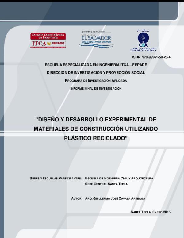 Pdf Civil Plástico Reciclado Angel David Saenz Ramos