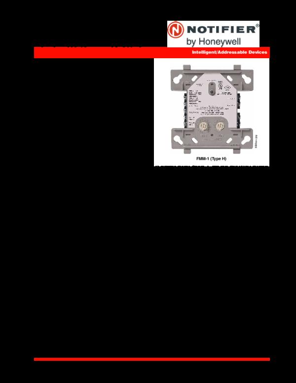 FMM-1, FMM-101, FZM-1 & FDM-1 Monitor Modules with FlashScan ... on