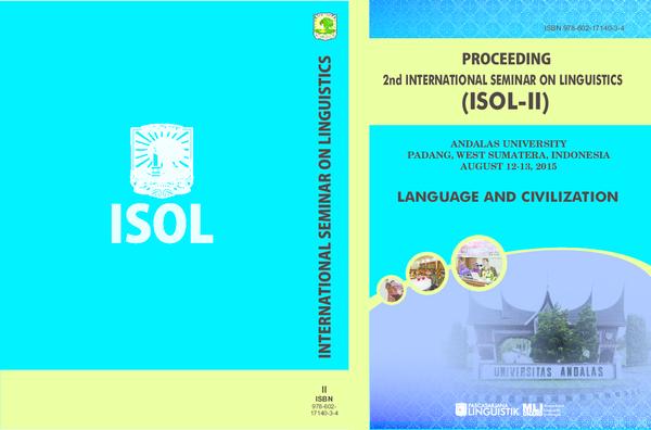 PDF) 2nd INTERNATIONAL SEMINAR ON LINGUISTICS LANGUAGE AND