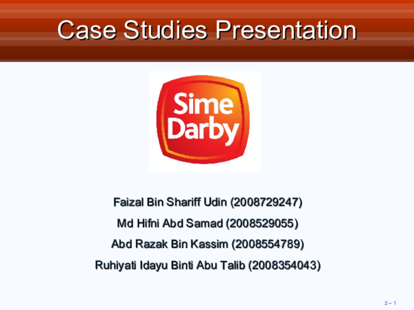 Pdf Case Studies Presentation Case Studies Presentation